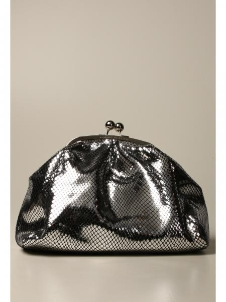 Elhaida M Marc Ellis clutch bag in python print leather