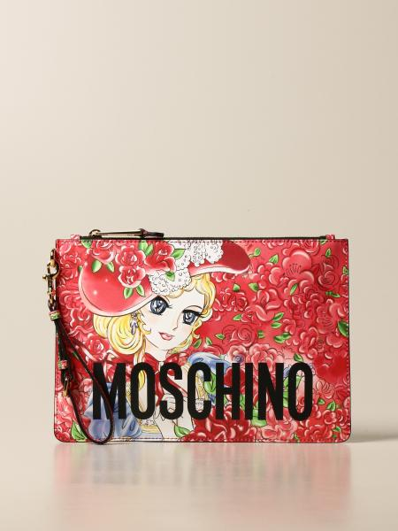 Moschino Couture leather bag with anime print