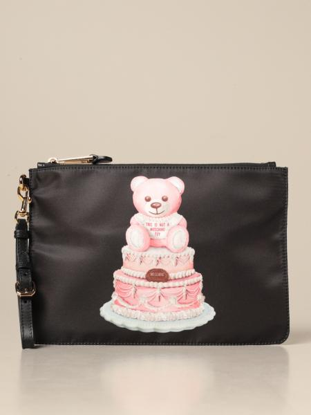 Moschino Couture nylon clutch with teddy cake