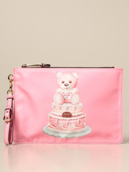 Pochette Moschino Couture in nylon con teddy torta