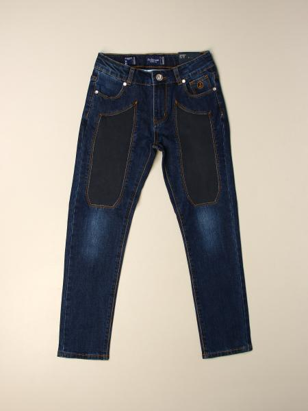 Jeckerson: Jeans Jeckerson in denim con toppe in alcantara
