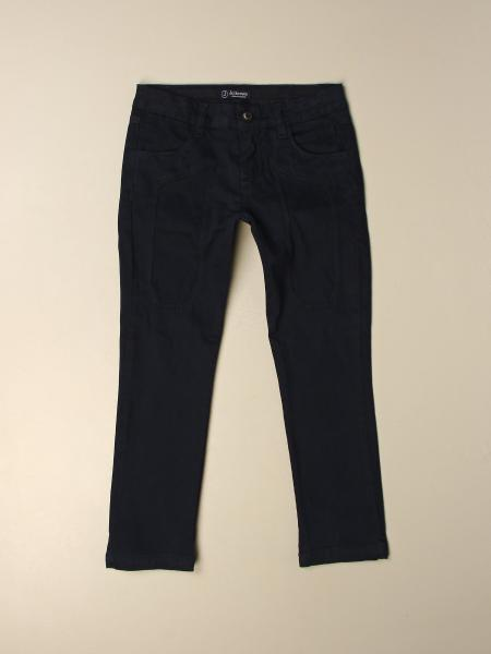 Jeckerson trousers in cotton gabardine with patches