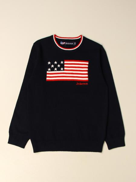 Jeckerson pullover with jacquard flag