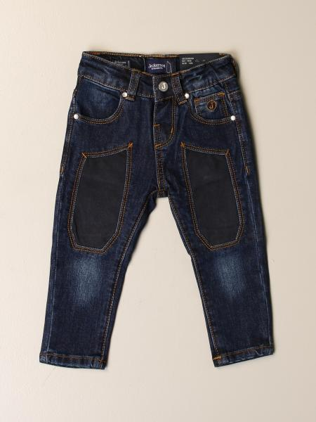 Jeckerson jeans in used denim with patches