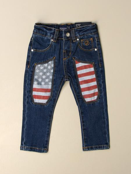 Jeckerson jeans in denim with USA flag patches