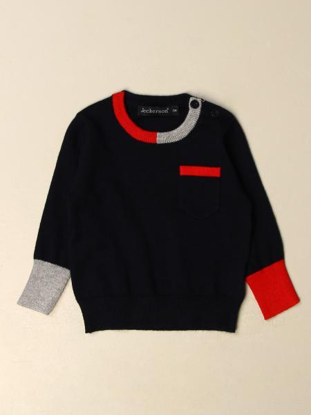 Girocollo lana con bordi contrasto
