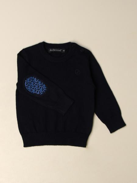 Girocollo lana con toppa logo
