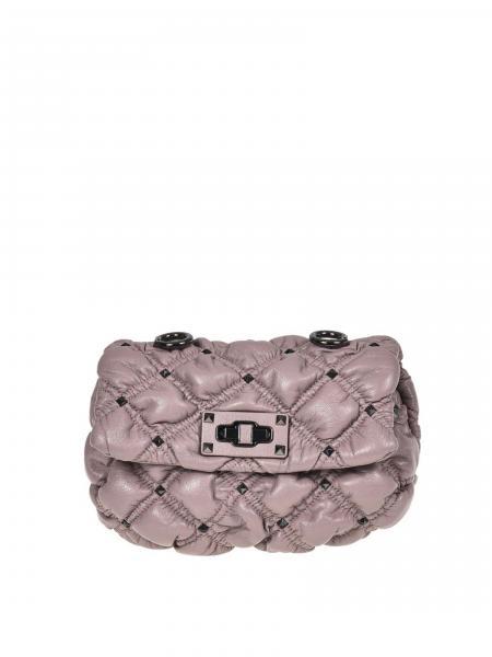 Valentino donna: Tracollina pelle trapuntata con borchie