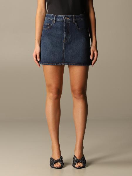 Balenciaga women: Balenciaga short denim skirt