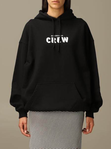 Con cappuccio oversize logo crew