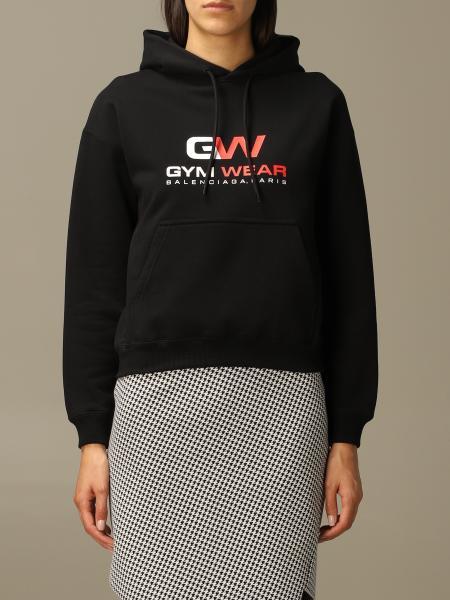 Balenciaga: Balenciaga Gym Wear sweatshirt with hood in organic cotton fleece