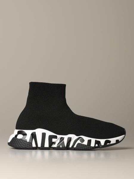 Speed Balenciaga sock sneakers with logoed sole