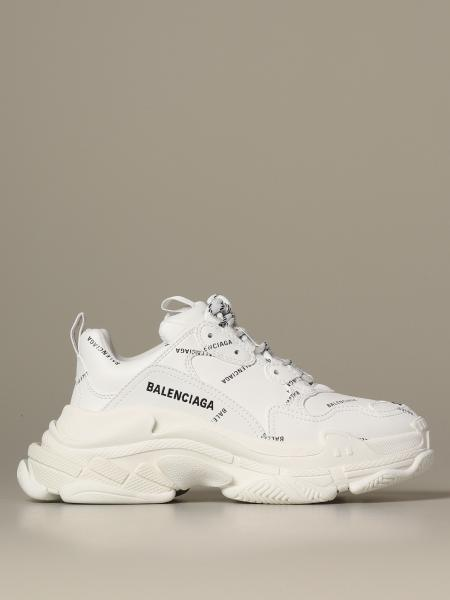 Sneakers Triple s Balenciaga con logo all over