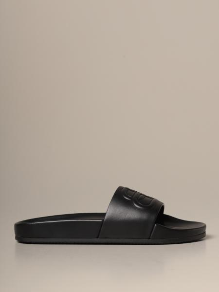 Piscine Balenciaga leather sandal with logo