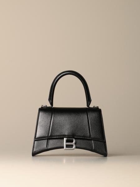 Balenciaga Hourglass top handle small bag in textured leather