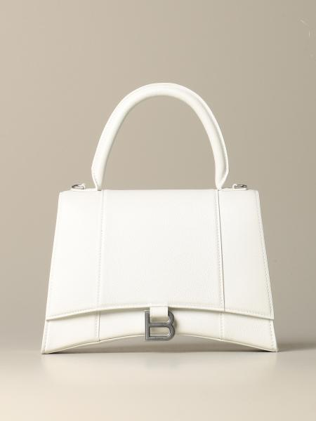 Borsa Hourglass top handle M Balenciaga in pelle martellata