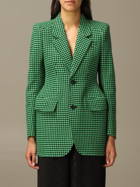 Balenciaga: Balenciaga single-breasted jacket in houndstooth wool