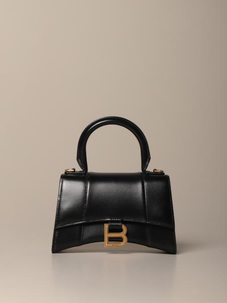 Bolso Hourglass top handle xs Balenciaga de piel