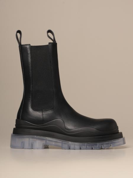 Bottega Veneta BV Tire Chelsea boot in leather