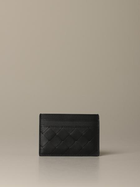 Bottega Veneta credit card holder in woven leather 1.5