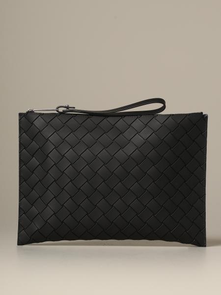 Bottega Veneta clutch bag in woven rubber