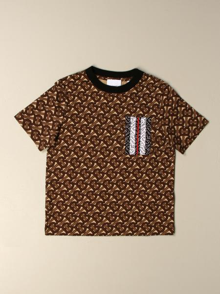 Burberry: Burberry cotton t-shirt with all-over tb monogram print