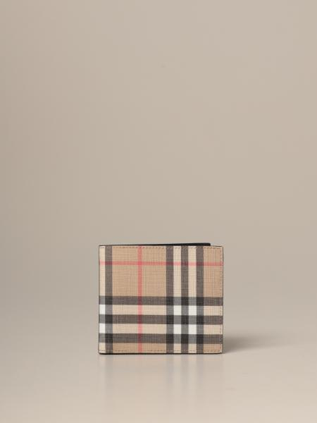 Burberry wallet in e-canvas with vintage check pattern
