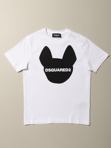 Dsquared2 Junior T-shirt in cotton with print and logo