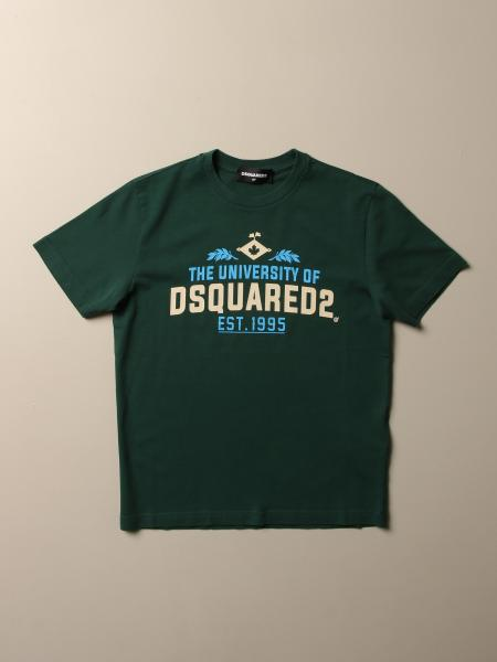 T-shirt Dsquared2 Junior in cotone con logo the university