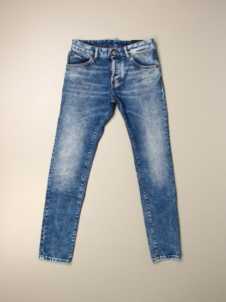 Jeans Skater Dsquared2 Junior in denim used stretch