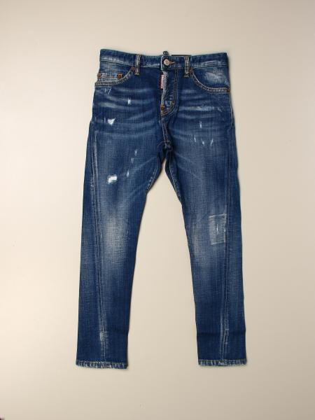 Jeans Twist Dsquared2 Junior in denim used con rotture