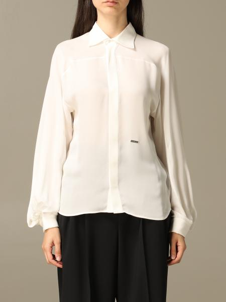 Dsquared2 shirt in silk with wide sleeves