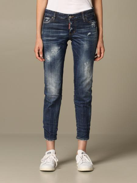 Dsquared2: Jeans Jennifer Dsquared2 cropped con logo