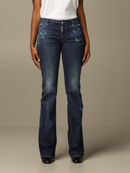 Dsquared2: Jeans Dsquared2 flare fit con rotture