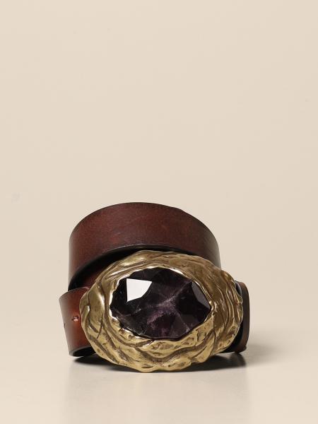 Cintura Dsquared2 in pelle con fibbia ametista