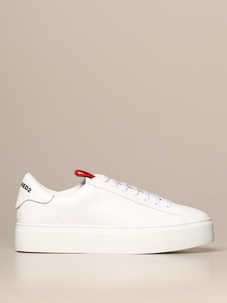 Dsquared2 sneakers in leather with logoed band