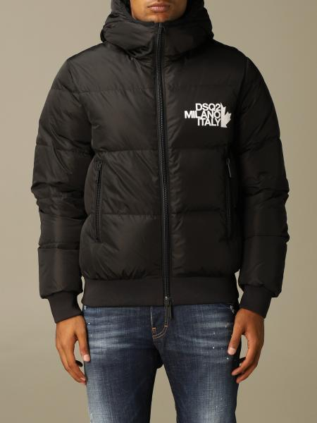Dsquared2 down jacket with hood and logo