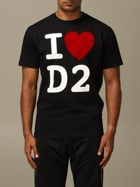 T-shirt Dsquared2 a girocollo con stampa I love D2