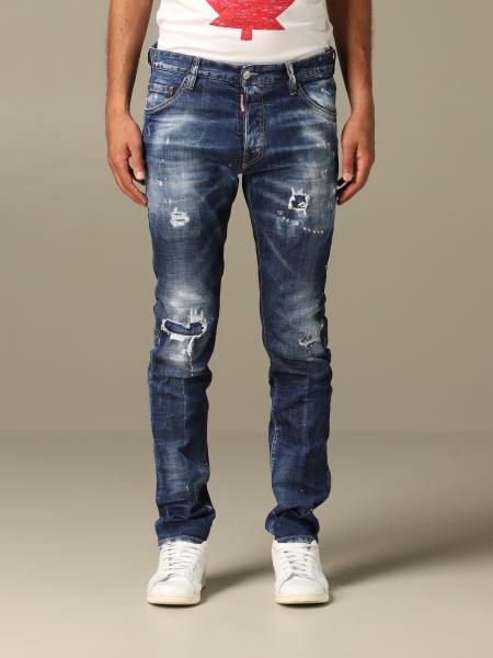 Cool guy Dsquared2 regular fit jeans with breaks