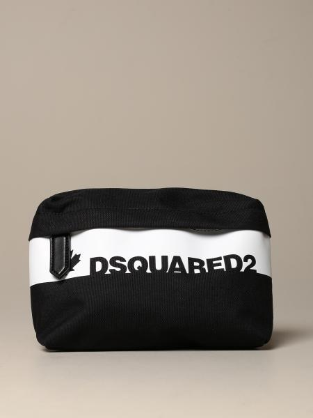 Dsquared2 belt bag in canvas with logo