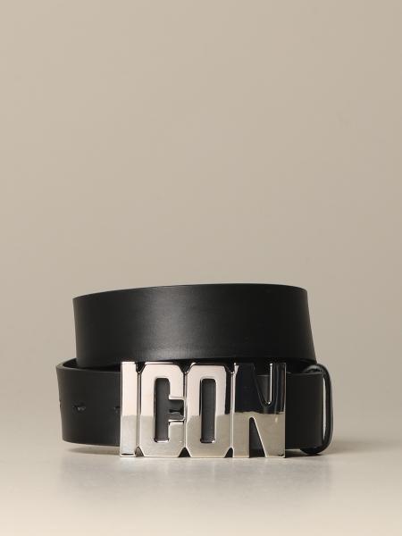 Cintura Dsquared2 in pelle con fibbia Icon