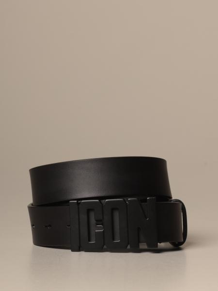 Dsquared2 leather belt with Icon buckle