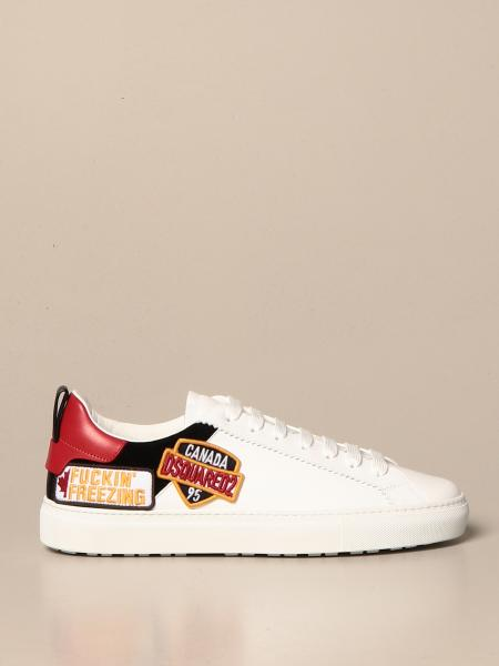 Dsquared2 sneakers in leather with logo patch