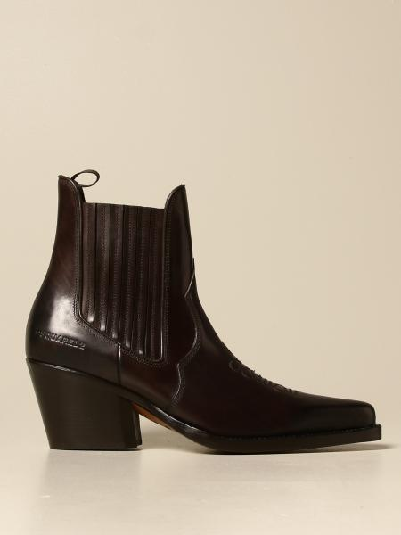 Camperos Dsquared2 in leather