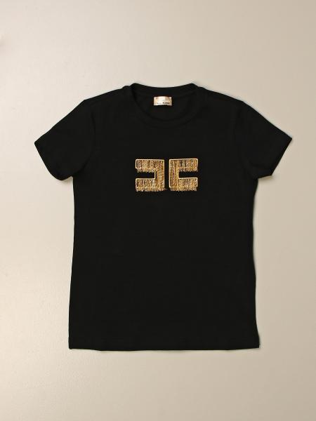 Elisabetta Franchi T-shirt with micro chain logo