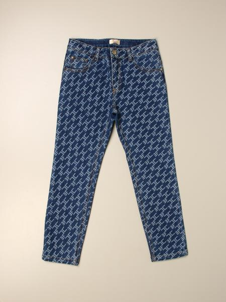 Elisabetta Franchi jeans with logo all over