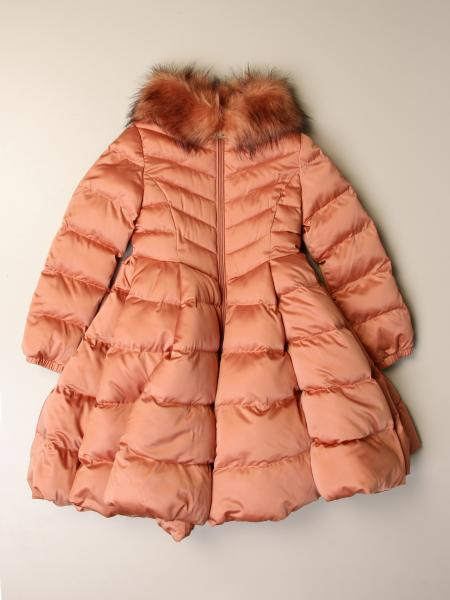 Elisabetta Franchi wide down jacket with fur