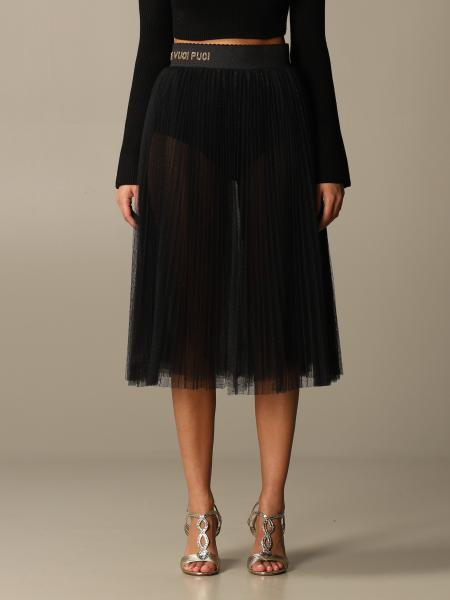 Elisabetta Franchi women: Elisabetta Franchi flared skirt in pleated tulle