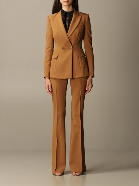 Elisabetta Franchi jacket + flair trousers set