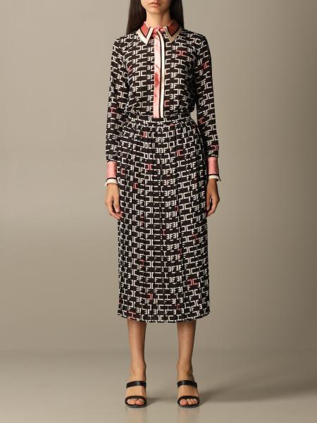 Elisabetta Franchi women: Elisabetta Franchi dress with all over logo